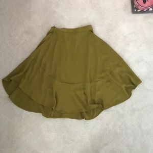 Flowy olive green skirt